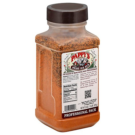 Pappys Choice Seasoning Prime Rib Rub - 24 Oz