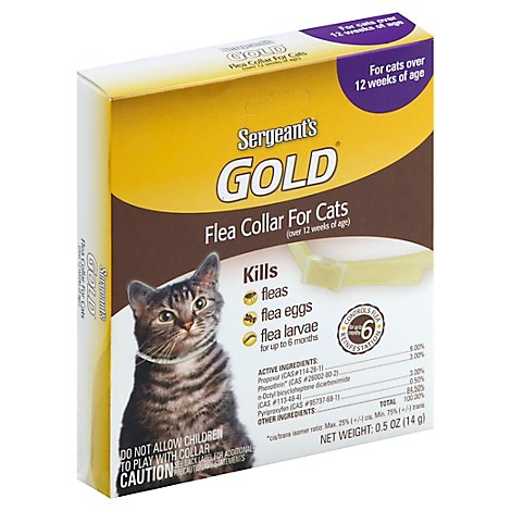 Sergeants Gold Flea & Tick Collar For Cats Over 12 Weeks Of Age Box - Each