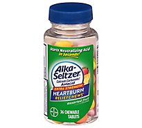 Alka-Seltzer Heartburn Relief Chewable Tablets Assorted Fruit - 36 Count