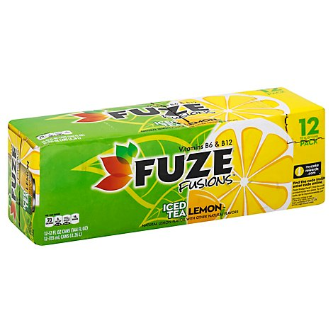 Fuze Fusions Tea Iced Lemon With Vitamins B6 & B12 - 12-12 Fl. Oz.
