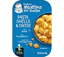 Gerber Baby Food Toddler Pasta Shells & Cheese - 6 Oz