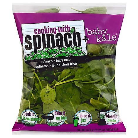 NewStar Cooking With Spinach Plus Baby Kale - 13.25 Oz