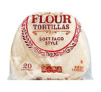 Signature SELECT Tortillas Flour Medium Size Bag 20 Count - 29.17 Oz
