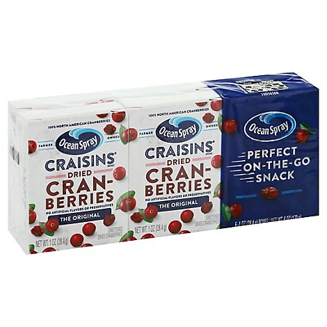 Ocean Spray Craisins Snack Pack - 6-1 Oz