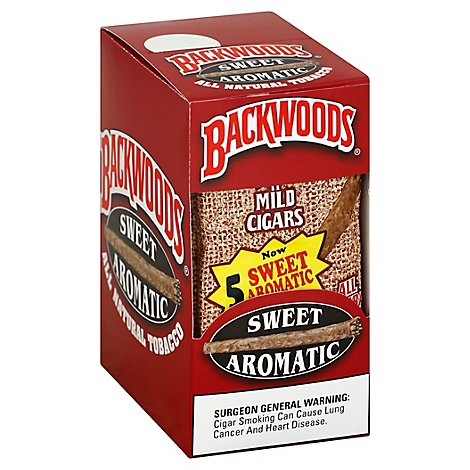 Backwoods Cigars Sweet Aromatic All Natural - 8-5 Packs