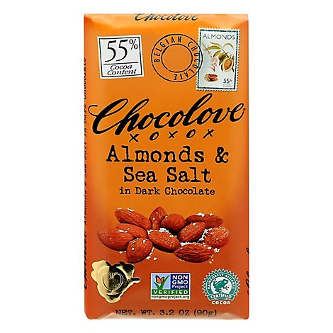 Chocolove Dark Chocolate Almonds & Sea Salt - 3.2 Oz