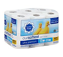 Signature Care Bath Tissue Ultra Premium Our Softest Double Roll 2 Ply - 12 Count
