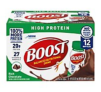 BOOST Nutritional Drink High Protein Rich Chocolate - 12-8 Fl. Oz.