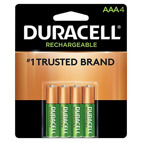 Duracell Battery Rechargeable AAA - 4 Count