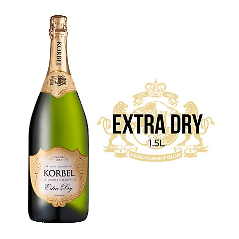 Korbel Champagne California Extra Dry 24 Proof - 1.5 Liter