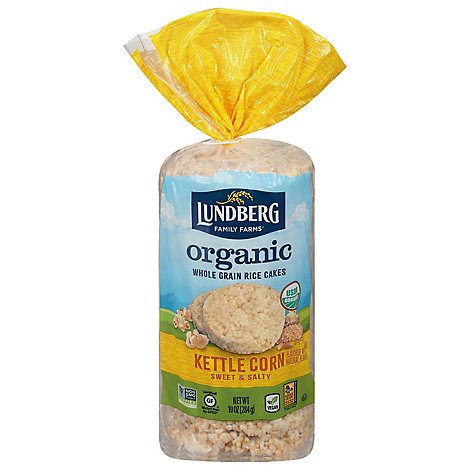 Lundberg Cakes Rice Organic Kettle Corn - 10 Oz