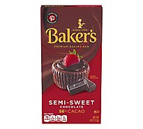 Bakers Baking Bar Premium Semi-Sweet Chocolate - 4 Oz
