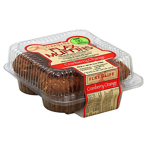 Flax4Life Muffin Cranberry Orange - 14 Oz