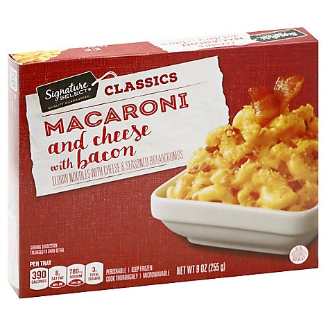 Signature SELECT Classics Macaroni & Cheese With Bacon - 9 Oz