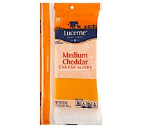 Lucerne Cheese Sliced Cheddar Medium - 20 Oz