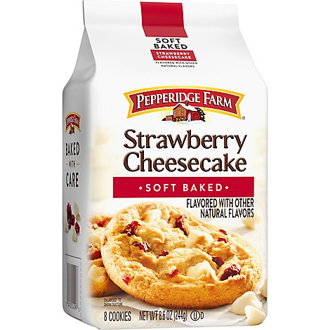 Pepperidge Farm Dessert Shop Cookies Soft Dessert Strawberry Cheesecake - 8.6 Oz