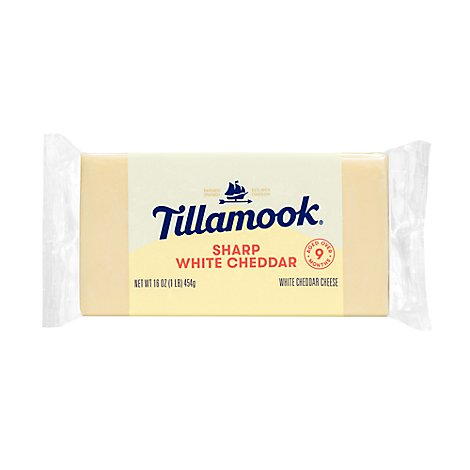 Tillamook Cheese Sharp White Cheddar - 16 Oz