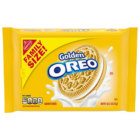 OREO Sandwich Cookies Golden Family Size - 19.1 Oz