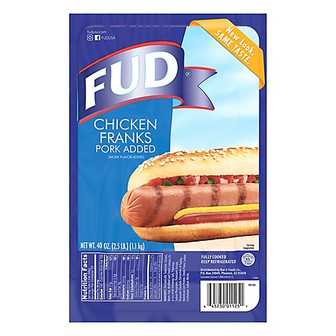 Fud Chicken And Pork Franks - 40 Oz