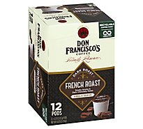 Don Franciscos Coffee Family Reserve Coffee Single Serve Dark Roast French Roast - 12-0.33 Oz