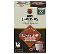 Don Franciscos Coffee Family Reserve Coffee Single Serve Medium Roast Kona Blend - 12-0.37 Oz