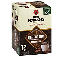 Don Franciscos Coffee Family Reserve Coffee Single Serve Medium-Dark Breakfast Blend - 12-0.33 Oz