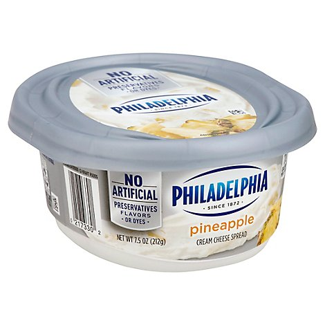 Philadelphia Cream Cheese Spread Pineapple - 8 Oz