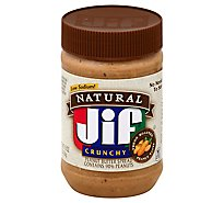 Jif Natural Peanut Butter Crunchy - 16 Oz
