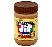 Jif Natural Peanut Butter Honey Creamy - 16 Oz
