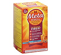 Metamucil Fiber Supplement 4 In 1 MultiHealth Powder On The Go Orange Sugar Free - 30-0.21 Oz