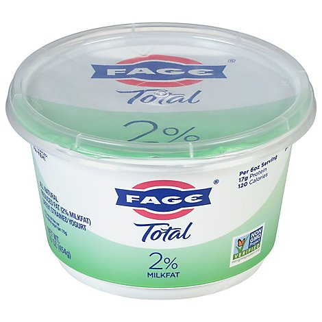 Fage Total 2% Yogurt Greek Lowfat Strained - 17.6 Oz