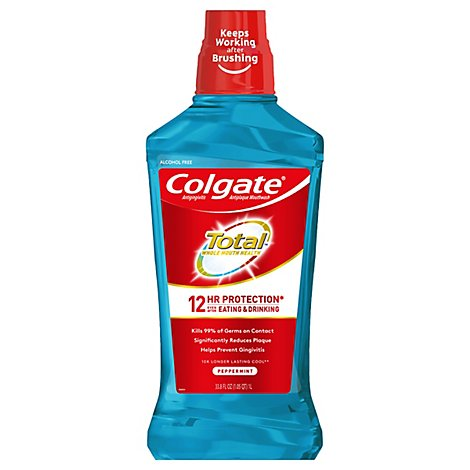 Colgate Total Mouthwash Antigingivitis Antiplaque Peppermint Blast - 33.8 Fl. Oz.