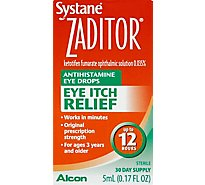 ZADITOR Eye Drops Antihistamine Original Prescription Strength Eye Itch Relief - 0.17 Fl. Oz.