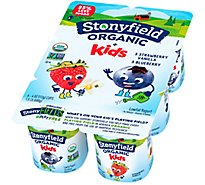 Stonyfield Farm Organic YoKids Yogurt Lowfat Blueberry Strawberry Vanilla - 6-4 Oz