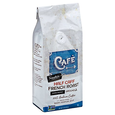 Signature SELECT Coffee Ground Dark Roast Half-Caff French Roast - 11 Oz
