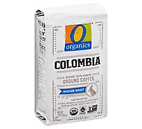 O Organics Organic Coffee Ground Arabica Medium Roast Colombia - 10 Oz