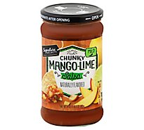Signature SELECT Salsa Chunky Mango-Lime Mild Jar - 24 Oz
