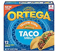 Ortega Taco Shells Yellow Corn Box 12 Count - 5.8 Oz