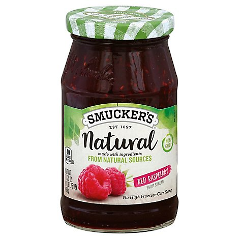 Smuckers Natural Fruit Spread Red Raspberry - 17.25 Oz