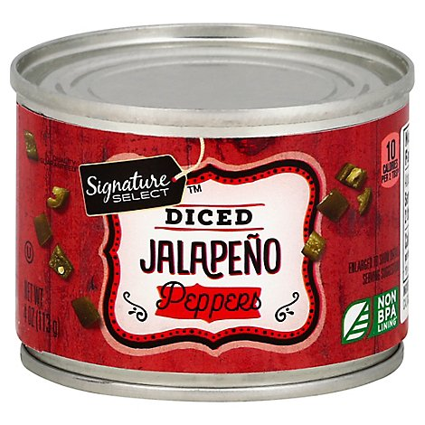 Signature SELECT/Kitchens Peppers Jalapeno Diced Can - 4 Oz