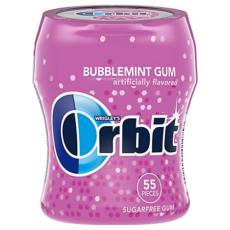 Orbit Bubblemint Sugarfree Gum Bottle 55 Piece