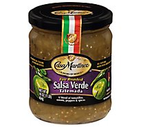 Casa Martinez Salsa Verde Fire Roasted Tatemada Medium Jar - 16 Oz