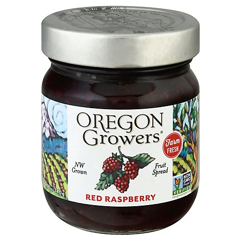 Oregon Growers Fruit Spread Red Raspberry - 12 Oz