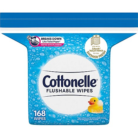 Cottonelle FreshCare Cleansing Cloths Flushable Refills Bag - 168 Count