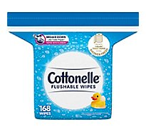 Cottonelle Flushable Wet Wipes Refills Pack - 168 Count