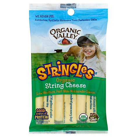 Organic Valley Stringles Organic String Cheese - 6 Oz