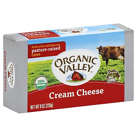 Organic Valley Cheese Organic Cream - 8 Oz