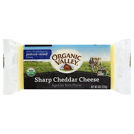 Organic Valley Family Of Farms Organic Sharp Cheddar Cheese - 8 Oz