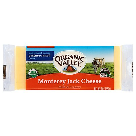 Organic Valley Family Of Farms Organic Monterey Jack Cheese - 8 Oz
