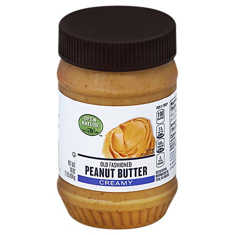 Open Nature Peanut Butter Old Fashioned Creamy - 16 Oz
